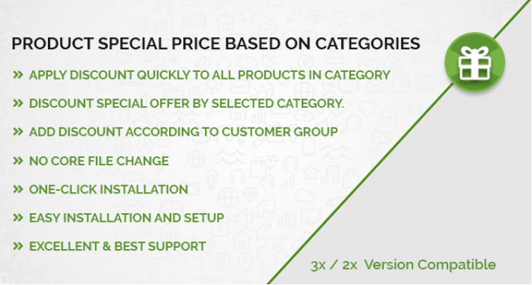 Product Special Price Based on Categories