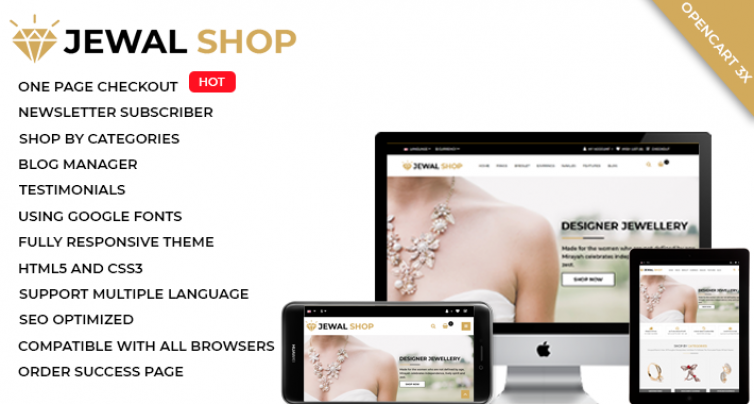 Jewel Shop (Multi Purpose Opencart Theme)