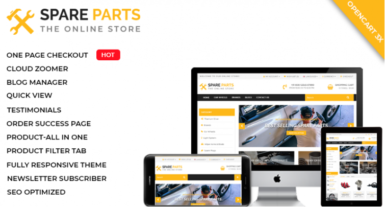 Spare Parts Theme - The online Store